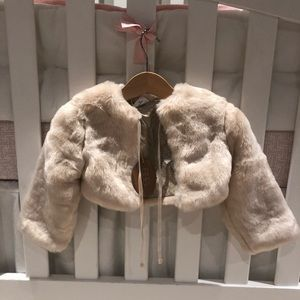 Other - Egg Susan Lazar- cropped faux fur jacket